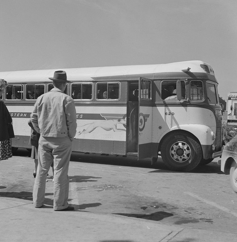 A Greyhound bus from 1943