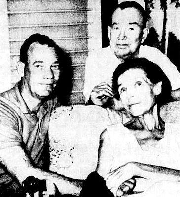 Robert Sheridan with his parents.