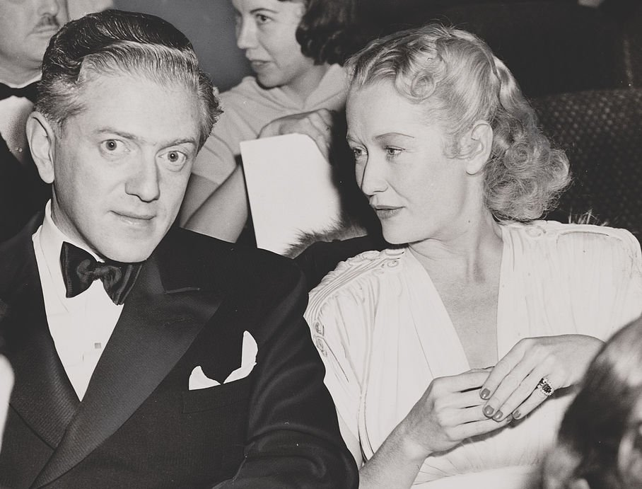 Miriam Hopkins with her ex-husband Anatole Litvak on December 25, 1939.