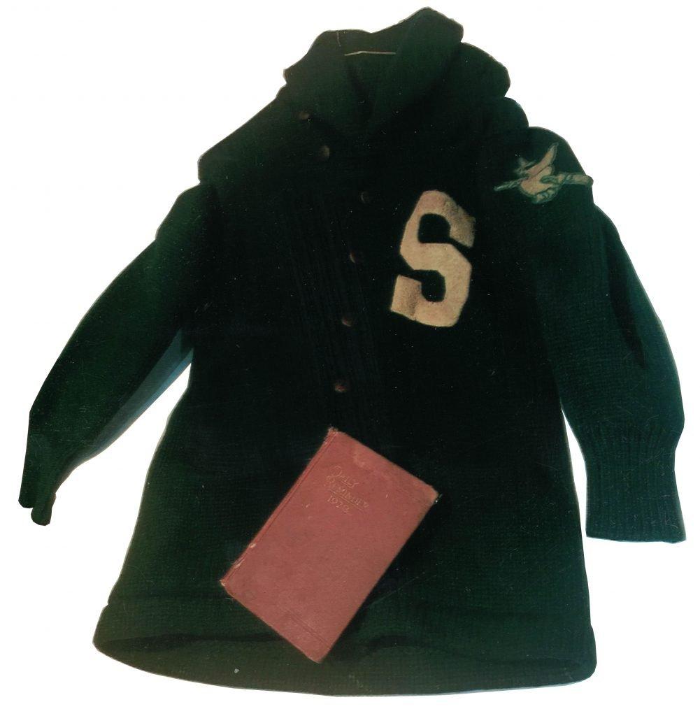 Salem Trade School Team Sweater and Diary of Stephen Murphy