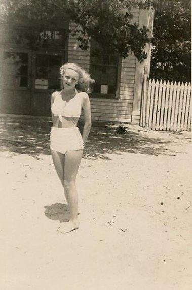 Photograph of Jacqueline E. Taylor in a bikini
