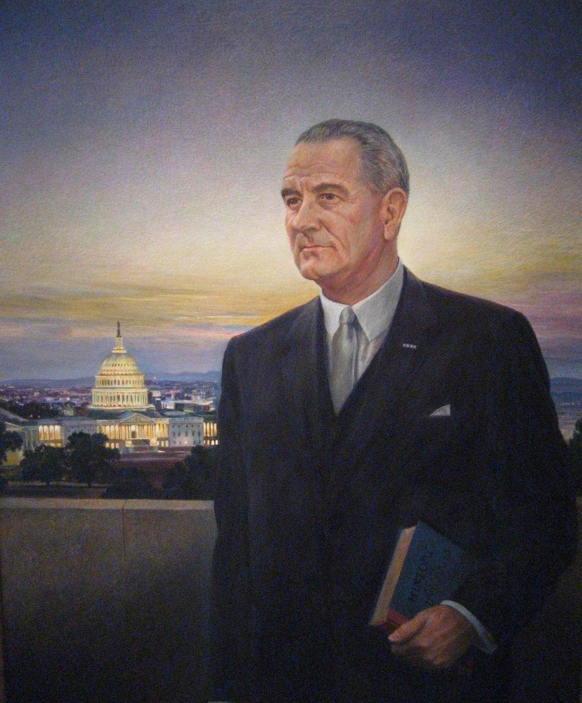 Lyndon Johnson portrait by Peter Hurd