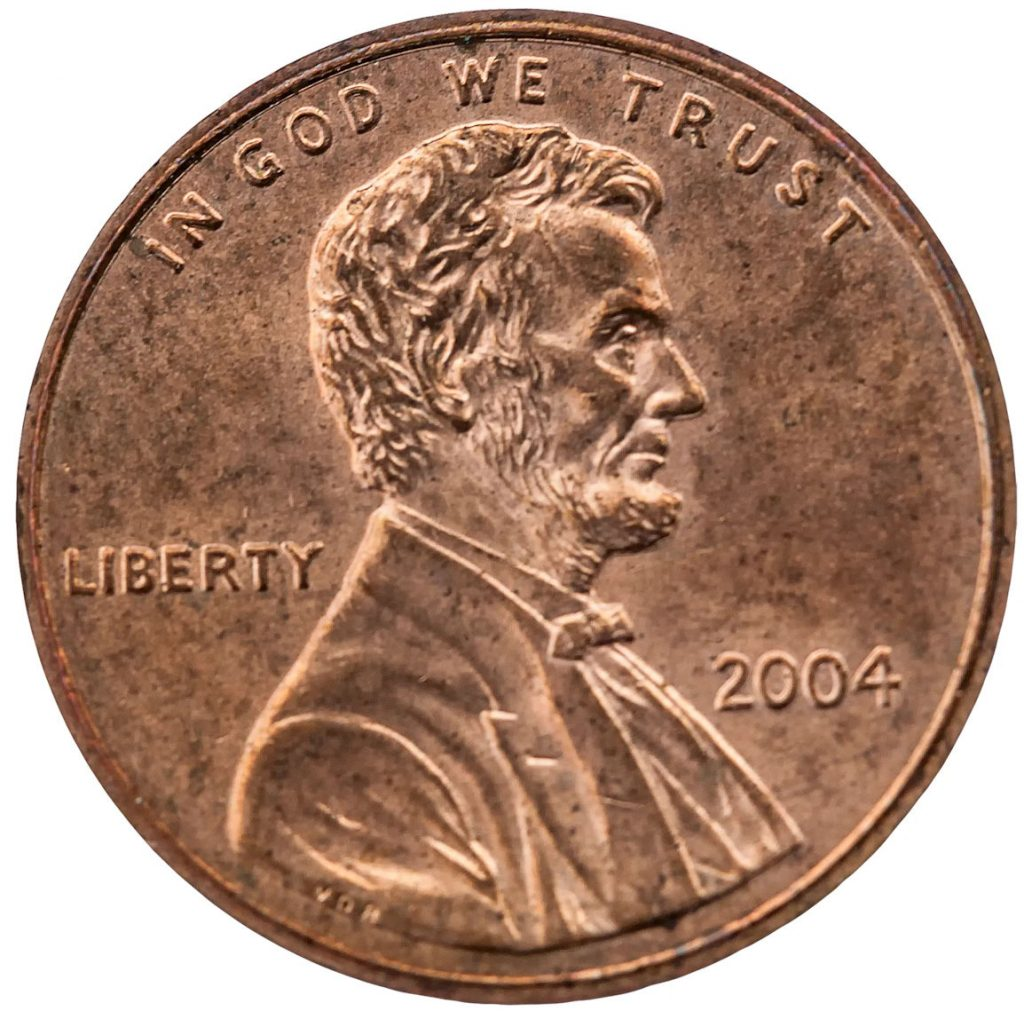 A modern one-cent penny
