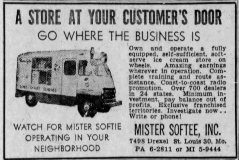 Mister Softee Ad from 1959