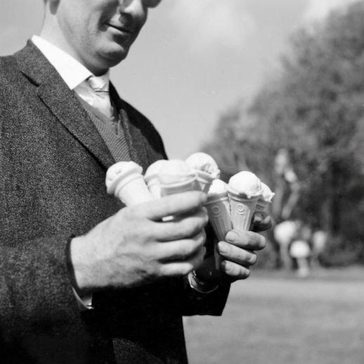 Man with Ice Cream Cones