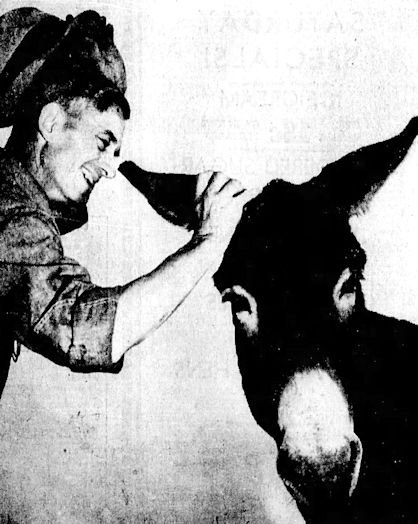 Boston Curtis with his owner Chauncey Curtis.