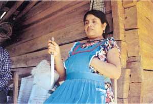 Ines Ramirez Perez holding knife.