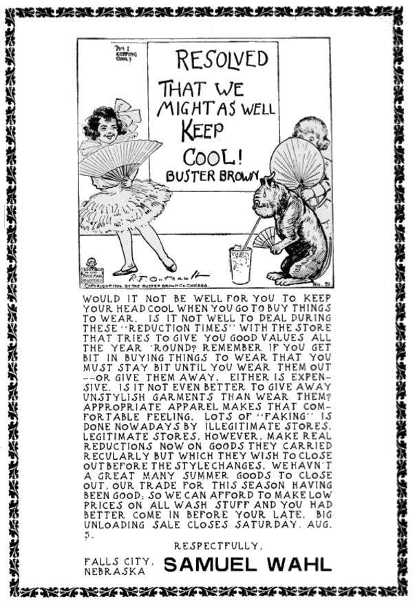 Buster Brown Shoes Ad