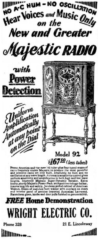 Majestic Radio ad
