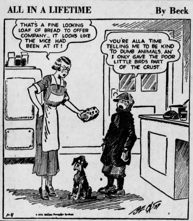Lifetime by Beck Comic 1939