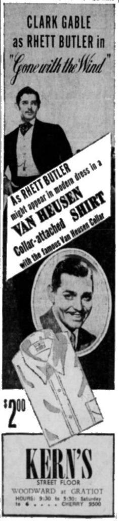 Van Heusen Dress Shirts January 26, 1940 Detroit Free Press