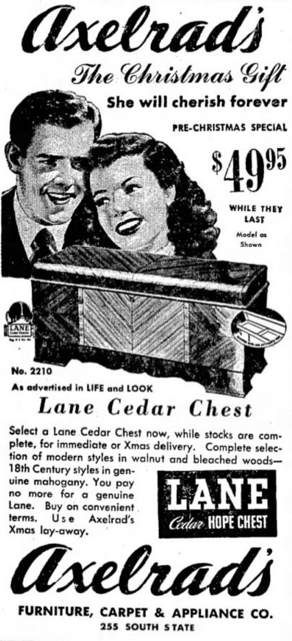 Ad for Lane Cedar Chest from 1948