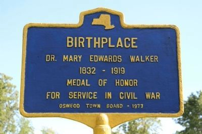 Historical Marker Dr Mary Walker