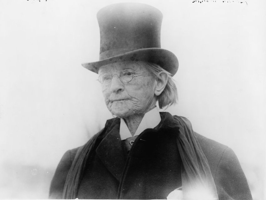 An elderly Dr. Mary Edwards Walker c. 1911.