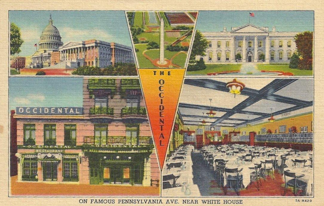 Vintage Occidental Restaurant Postcard