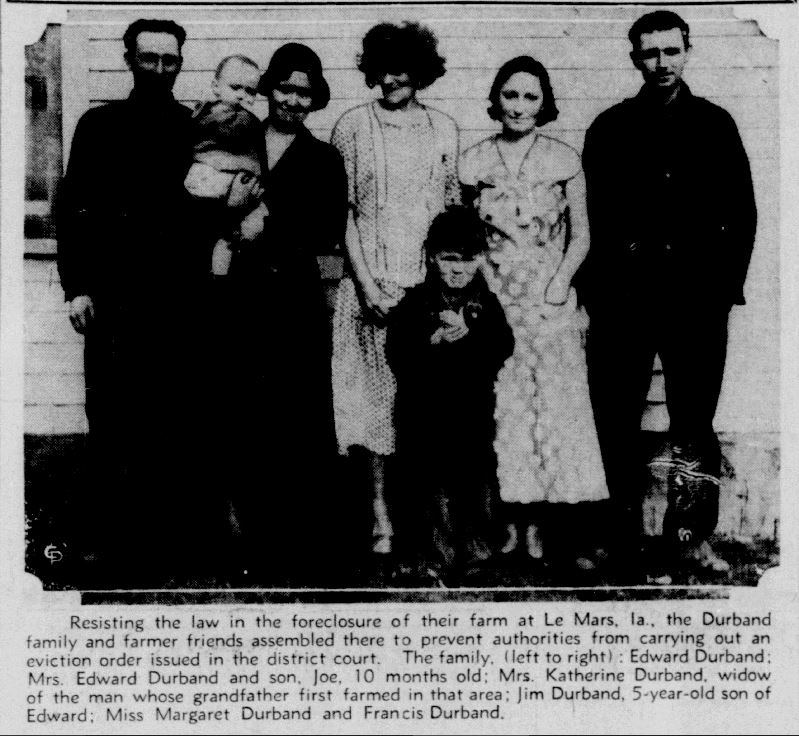 Durband family of Struble, Iowa.