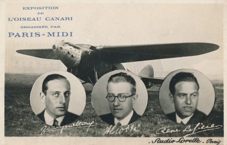 Commemorative Postcard of Yellow Bird Flight