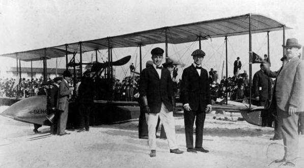 Tony Jannus with Percy E. Fansler