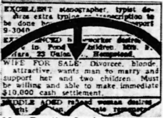 Dorothy Lawlor's $10,000 Want Ad