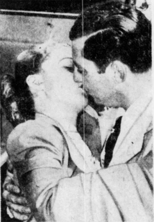 Dan Wicker greeting Dorothy Lawlor