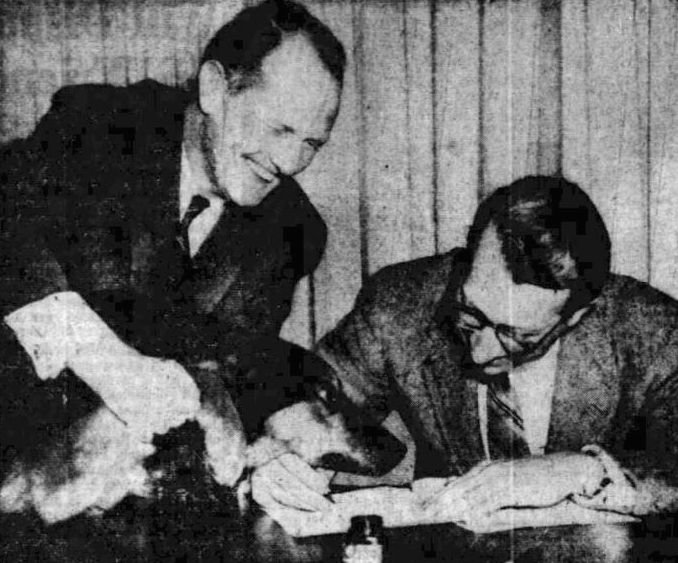 A. Vincent Leun with Hector at Law Signing