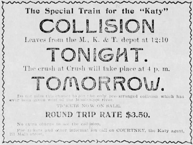 Ad for the Crash at Crush.