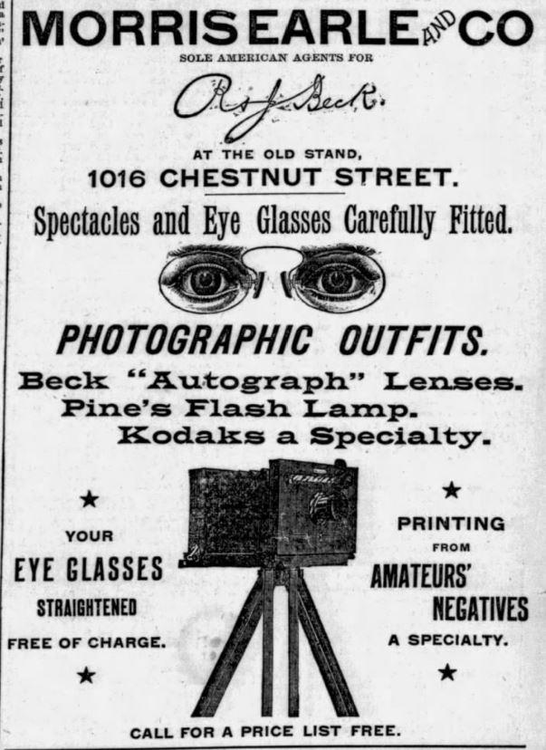 Kodak Cameras Ad 1889