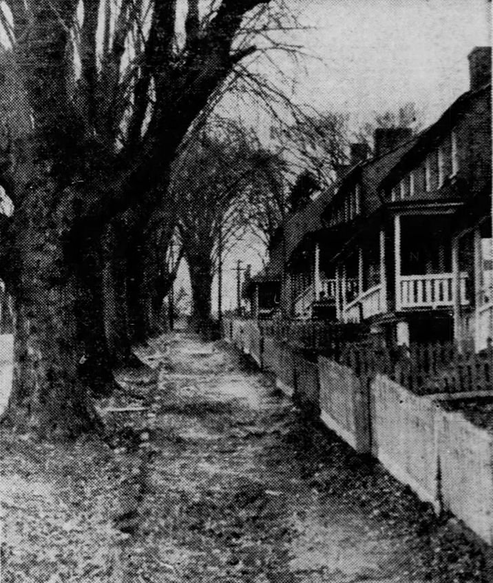 A few of the homes owned by the Savage mill in 1947.