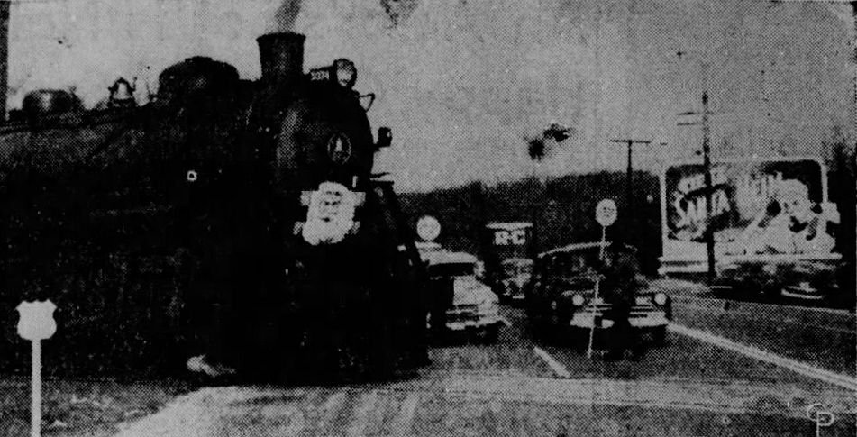 Image of the Santa Heim Special. Note the billboard for Santa Heim on the right.