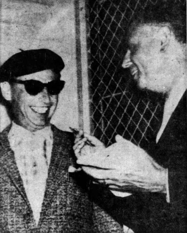 Emanuel K. Bredel (left) with U.S. Marshal Thomas J. Lunney.
