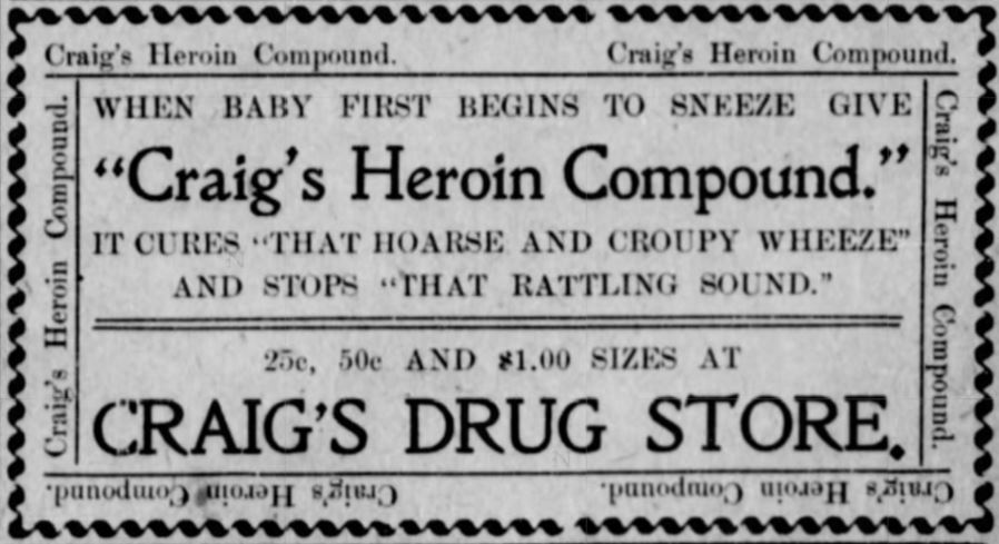 Craig's Heroin Compound Advertisement