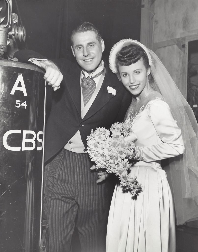 Stan and Natalie Rubin on their wedding day on the set of Bride and Groom on their wedding day.