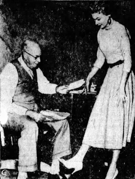 City Clerk S.H. Hendrix issues the first spike heel permit to Mrs. Betty McNutt in Mobile, Alabama.