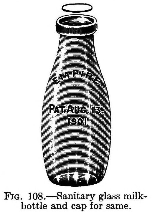Sanitary Glass Milk Bottle