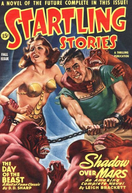Shadow Over Mars was featured in the Fall 1944 issue of Startling Stories.