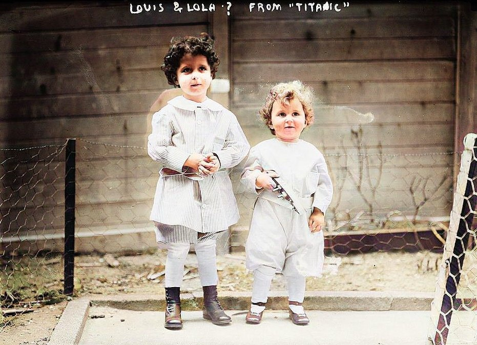 With their names unknown, the two orphan boys from the Titanic called Louis and Lola.