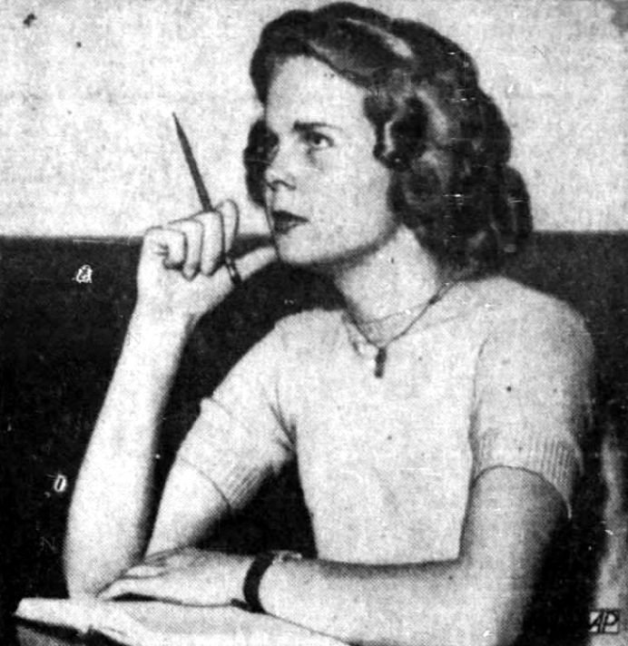 Bette Cooper, Miss America 1937, in school at Centenary College.