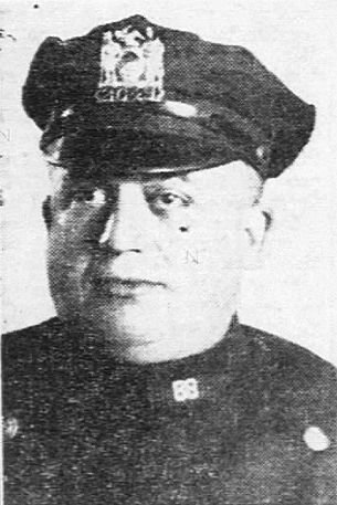 Patrolman Frank Grego was the first to arrive at the scene of the crime.