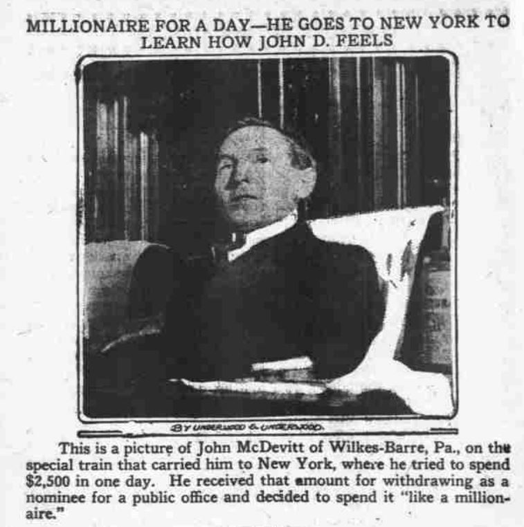Image of John McDevitt from the January 16, 1912 publication of The Day Book on page 10.