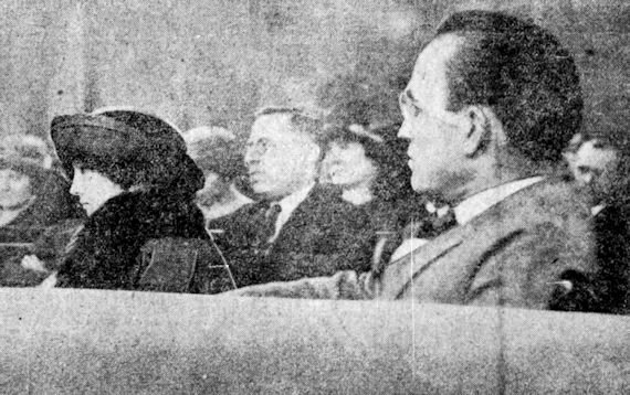 Mathilde Benkhardt and Dr. Justin L. Mitchell in court.
