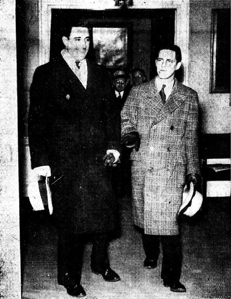 Louis Berrett (left) and Clement Molway.