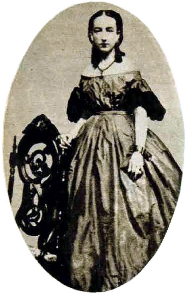 Ida Wood in the 1860s.