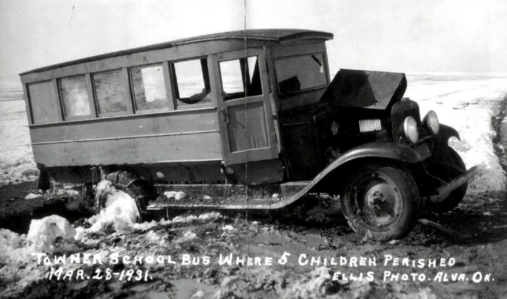 Towner School Bus Where 5 Children Perished Mar. 28-1931.