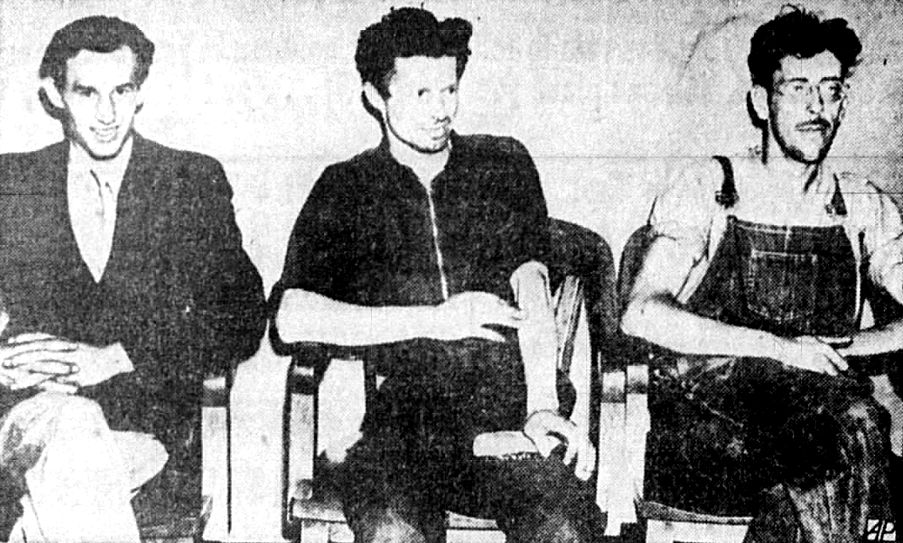 Left to right: Walter Paul Minx, Kurt Frederick Minx, and Daniel Carter.