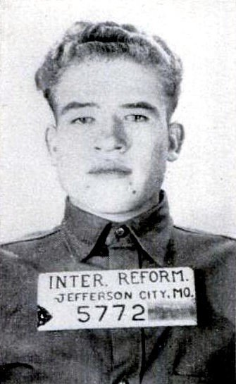 Billy Cook at age 18 at the Missouri Intermediate Reformatory.