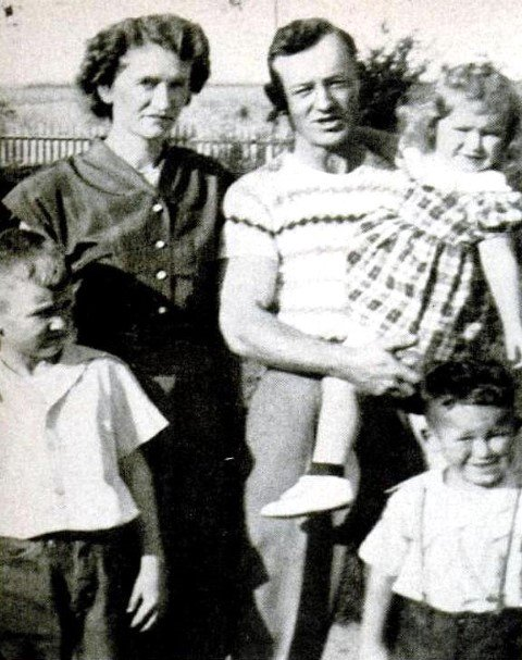 Thelma and Carl Mosser with their children.