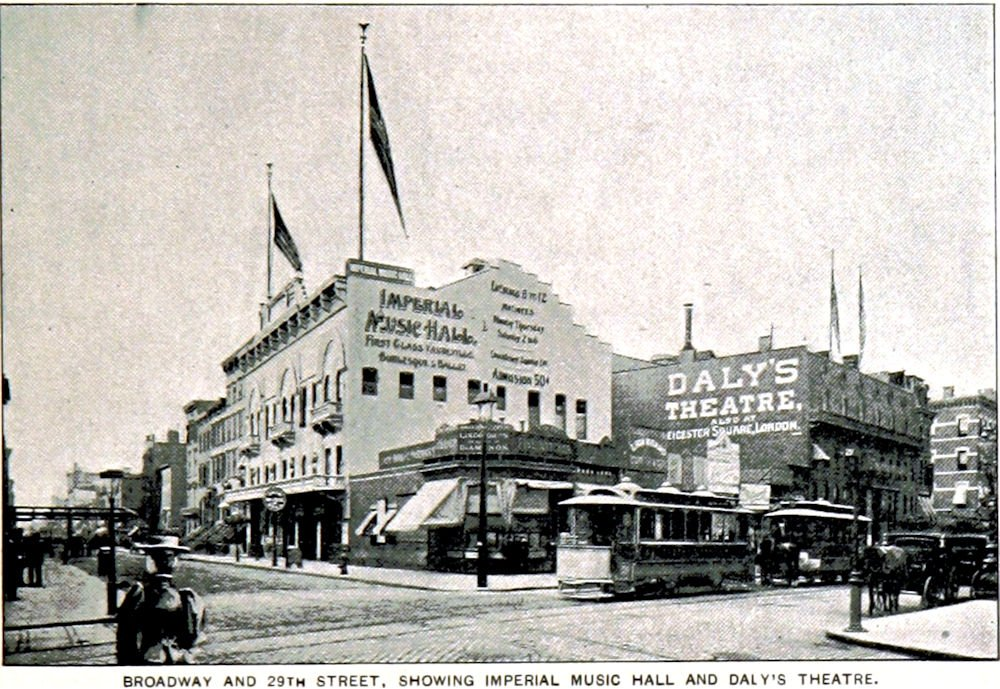 Daly's Theatre on Broadway in New York City, 1893.