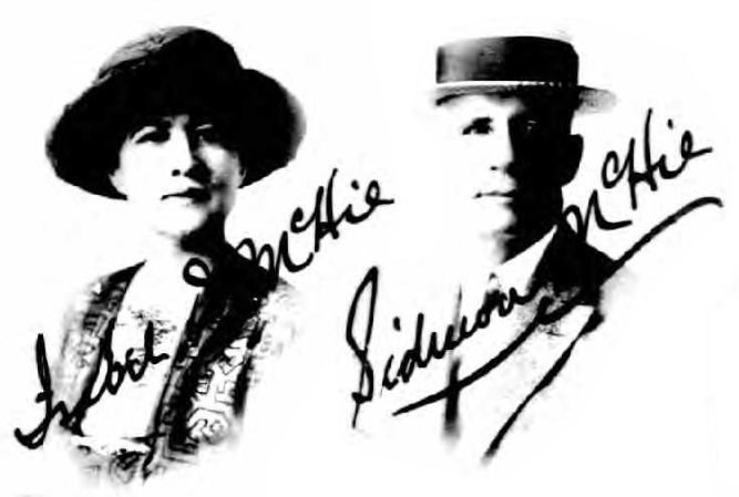 1920 passport photos of Isabel McHie and Sidmon McHie.