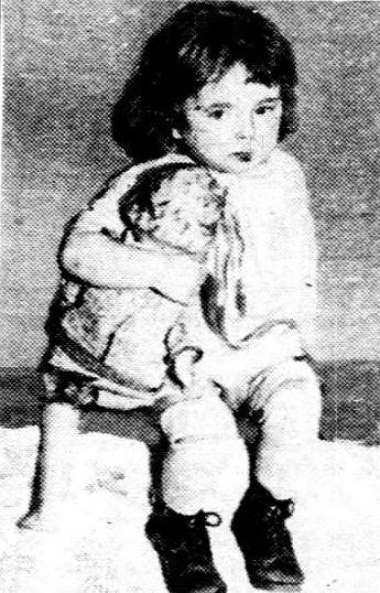 Helen Vasko with her doll.
