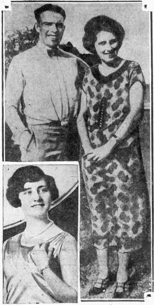 Elliott and Olive Thomas are together in the top photo. Sylvia Wilson is inset.